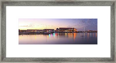 Framed Print featuring the photograph Harbour Lights, Hillarys Boat Harbour by Dave Catley