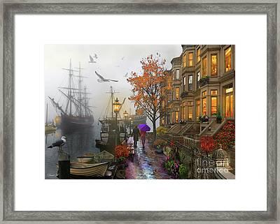 Harbour Framed Print by MGL Meiklejohn Graphics Licensing