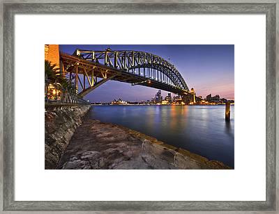 Harbour Nights Framed Print