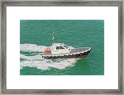 Harbour Pilot Boat Framed Print