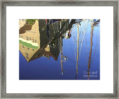 Framed Print featuring the photograph Harbour Reflection by Sascha Meyer