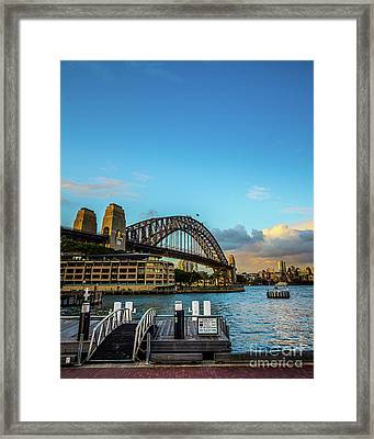 Framed Print featuring the photograph Harbour Sky by Perry Webster