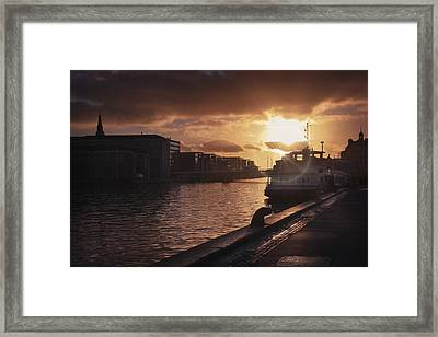 Harbour Sunset Copenhagen Framed Print