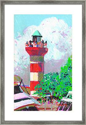 Harbour Town Light House Framed Print by Candace Lovely