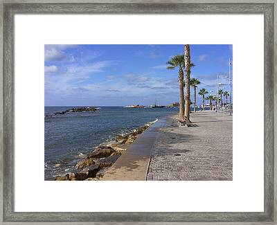 Harbour Walk Framed Print