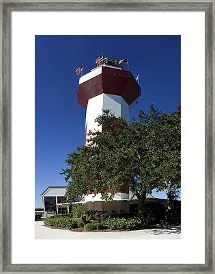 Harbourtown Lighthouse Framed Print by Thomas Marchessault