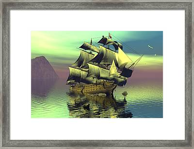 Hard Aground Taking On Water Framed Print by Claude McCoy