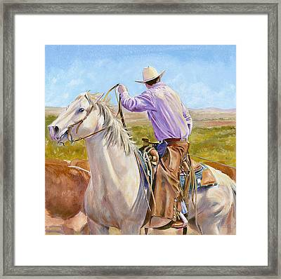 Hard And Fast Framed Print by Don Dane