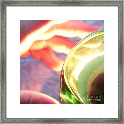 Hard At Play Framed Print