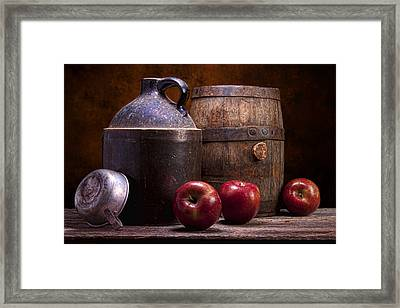 Hard Cider Still Life Framed Print by Tom Mc Nemar