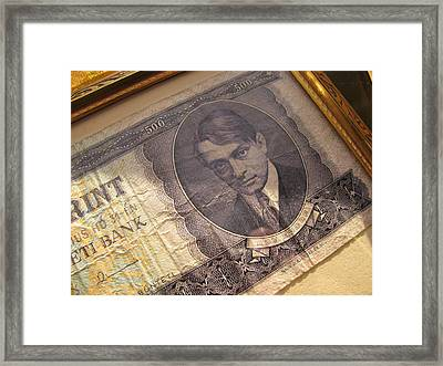 Framed Print featuring the photograph Hard Currency by Lindie Racz