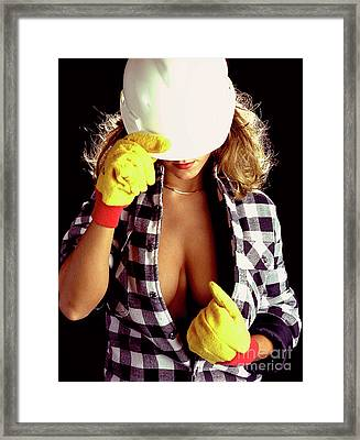Hard Hat-1a Framed Print by Gary Gingrich Galleries