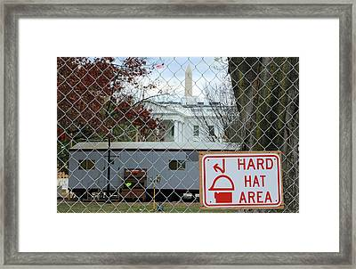Hard Hat Area At The White House Framed Print