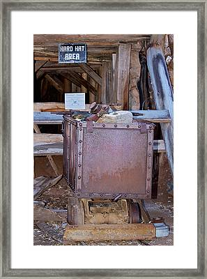 Hard Hat Area Framed Print