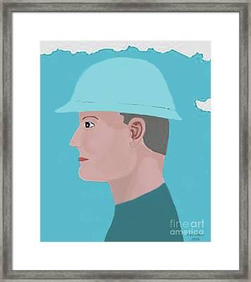 Hard Hat Oil Field Framed Print by Fred Jinkins