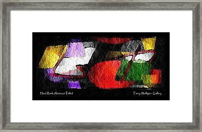 Hard Rock Abstract Titled Framed Print by Terry Mulligan
