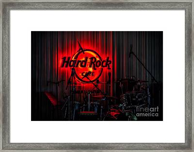 Cafe Sign Framed Print by Adrian Evans