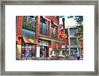 Hard Rock Cafe Denver Framed Print by Laurie Prentice
