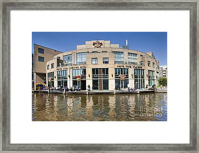 Hard Rock Cafe In Amsterdam Framed Print by Andre Goncalves