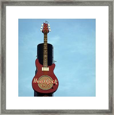 Hard Rock Cafe Framed Print by Joseph Skompski