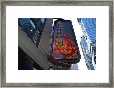Hard Rock Cafe N Y C Framed Print by Rob Hans