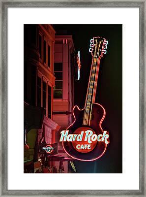Hard Rock Red Framed Print