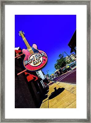 Hard Rockin On Beale Framed Print