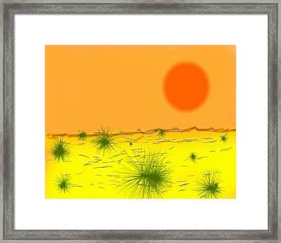 Hard Sun Of Desert Framed Print