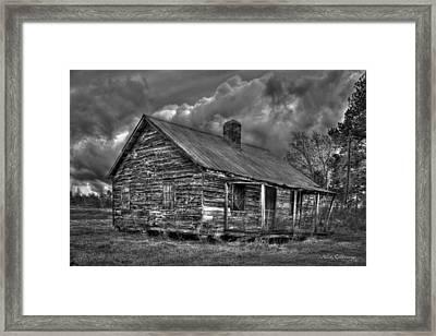 Hard Times Black And White Art Framed Print by Reid Callaway