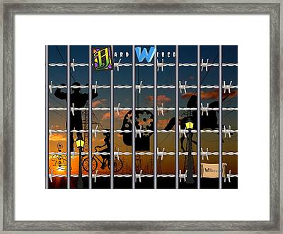 Hard-wired Framed Print