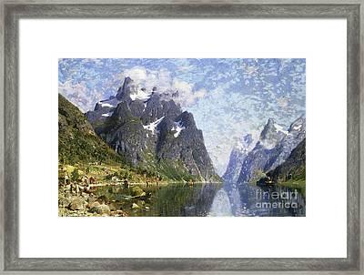 Hardanger Fjord, Norway Framed Print by Adelsteen Normann