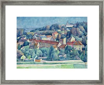 Hardricourt Village And Castle Framed Print