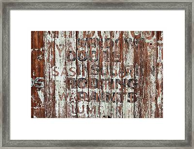 Hardware Store Ghost Sign Framed Print by Art Block Collections