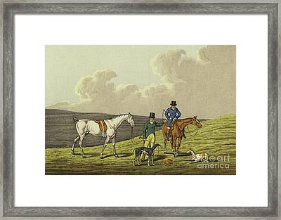 Hare Coursing Framed Print by Henry Thomas Alken
