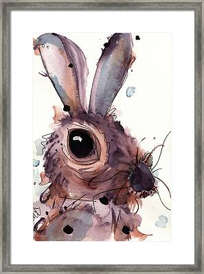 Hare Framed Print by Dawn Derman