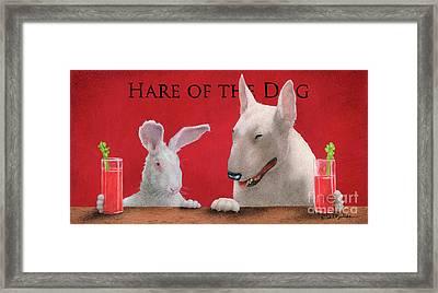 Hare Of The Dog...the Bull Terrier.. Framed Print