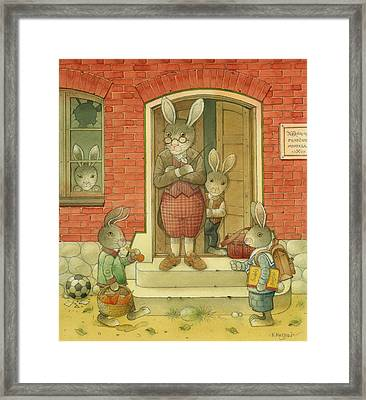 Hare School Framed Print by Kestutis Kasparavicius