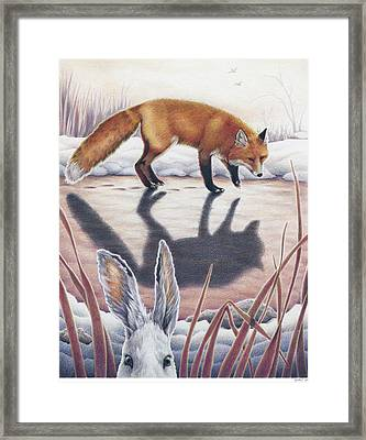 Hare Stands On End Framed Print by Amy S Turner