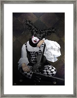 Harlequin Fiddle Framed Print