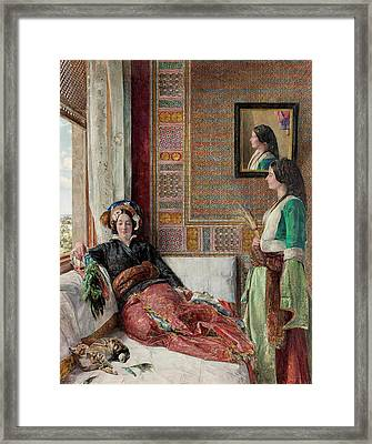 Harem Life  Constantinople Framed Print by John Frederick Lewis