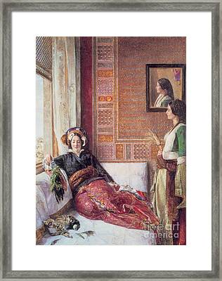 Harem Life In Constantinople Framed Print by MotionAge Designs