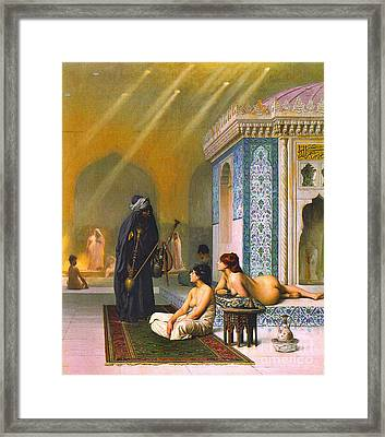 Harem Pool 1880 Framed Print