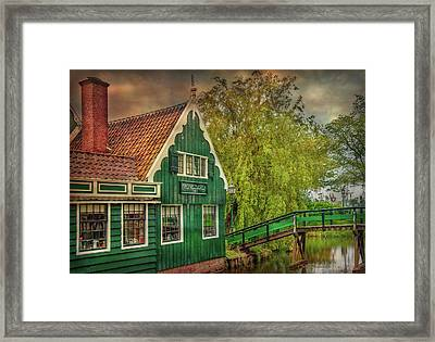 Framed Print featuring the photograph Haremakerij At The Brook by Hanny Heim