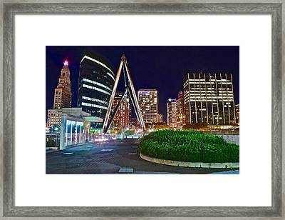 Harford At Night Framed Print by Frozen in Time Fine Art Photography