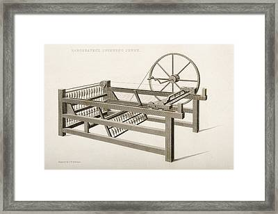 Hargreave S Spinning Jenny. Engraved By Framed Print by Vintage Design Pics
