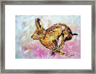 Haring Hare Framed Print