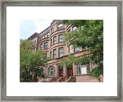 Framed Print featuring the photograph Harlem Brownstones by Vannetta Ferguson