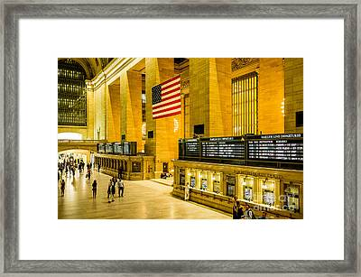 Framed Print featuring the photograph Grand Central Pride by M G Whittingham