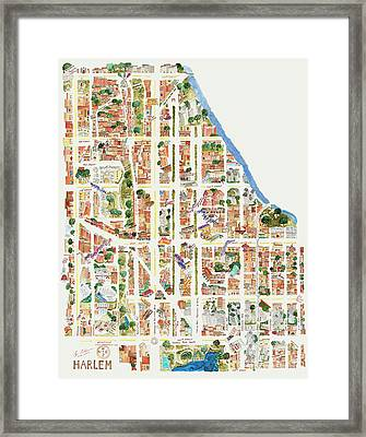 Harlem From 110-155th Streets Framed Print by Afinelyne