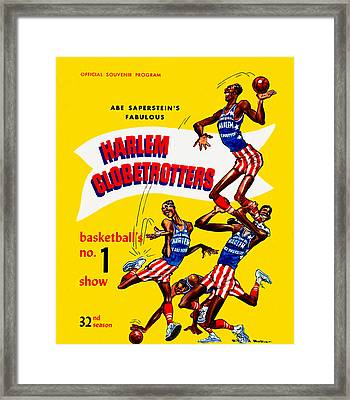 Harlem Globetrotters Vintage Program 32nd Season Framed Print
